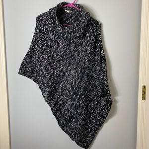 Eileen Fisher cowl neck sweater poncho shawl